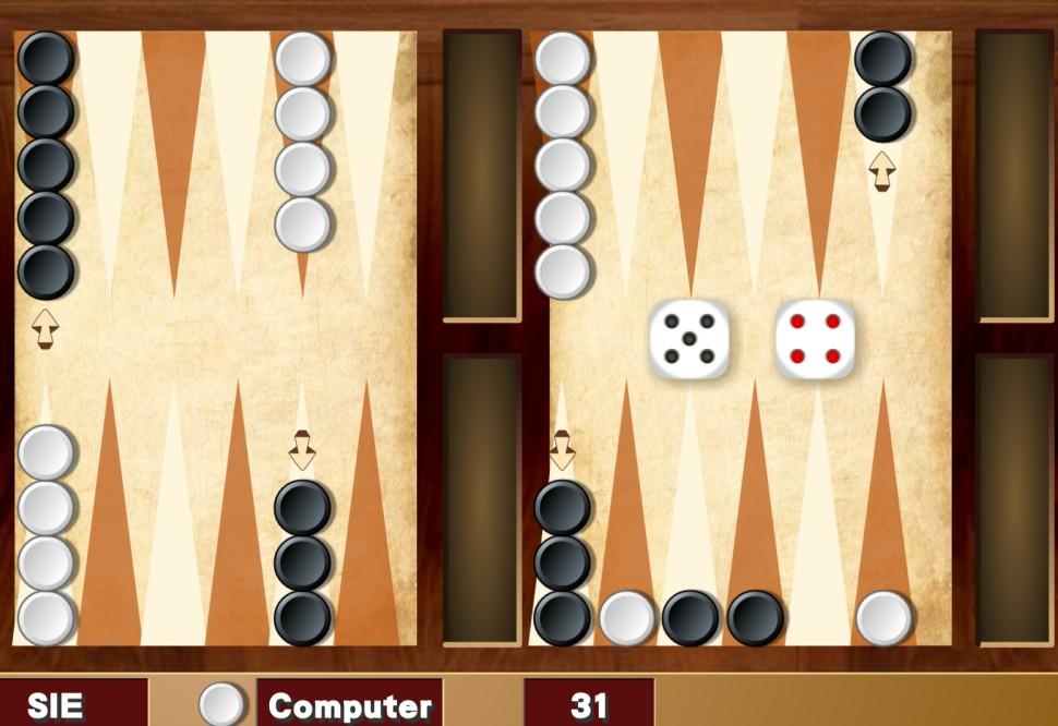 Image Mini Backgammon Spiel
